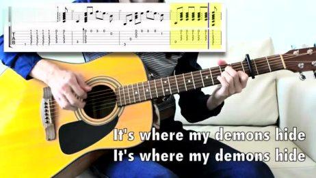 【乐器演奏】梦龙乐队Imagine Dragons经典热单《Demons》指弹吉他曲谱教学