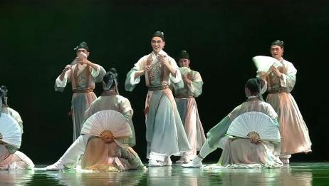 一群书生舞蹈,青衫纸扇,穿越回古代!