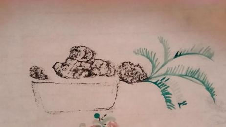 铁树盆景设计,搭配山石,苍劲古朴