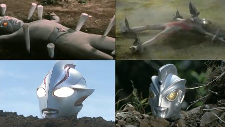 惨遭怪兽活埋的4位奥特曼,下场惨不忍睹,其中一个仅剩半个脑袋