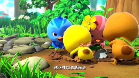 萌鸡小学堂:小泥鳅得救,萌鸡想出办法,大家真聪明!