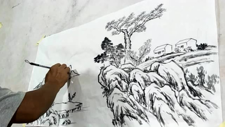 民间大叔画的这幅画看上去太精致了,你们喜欢这种艺术吗?