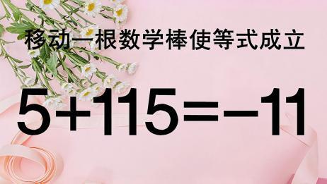 太有趣了,经典奥数题5+115=11,题目较难,稍不注意就容易做错