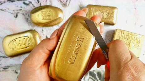 最爱刮金色的香皂,感觉超爽超解压