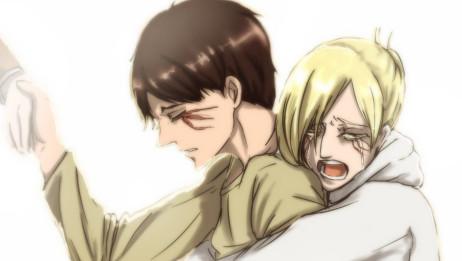 【进击!巨人中学校】阿尼和三笠为了艾伦争风吃醋