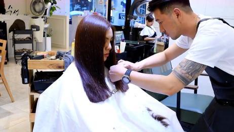 圆脸妹子长发这样剪,优雅显瘦,有气质
