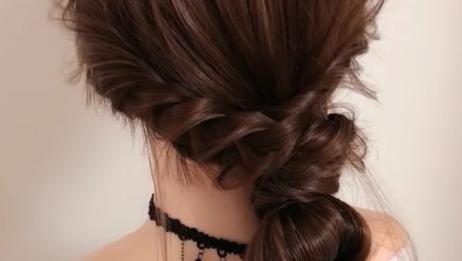 流行森系低丸子,试试这样扎头发,恕我直言,美得不像话!
