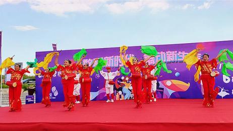 特色广场舞腰鼓舞《大山东》节奏欢乐很喜庆,一起跳起来!