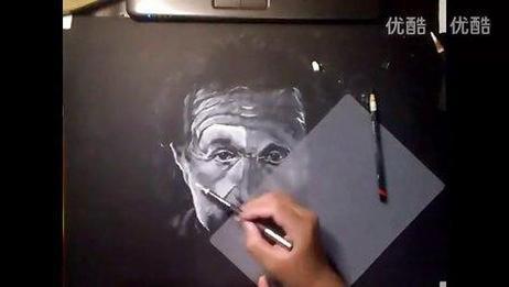 素描 爱因斯坦绘画素描
