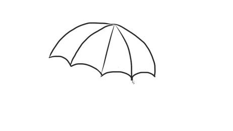 可爱简单的小雨伞幼儿亲子简笔画宝宝轻松学画画