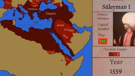 「架空历史地图」奥斯曼帝国疆域变化