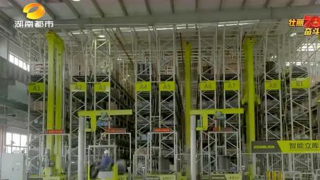AI赋能新时代,常德工厂智能立体仓库,物料自主配送无人化运作