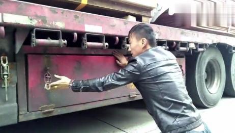 第一次见这么牛逼的卡车,拉货卸货的速度令人目瞪口呆!太厉害了