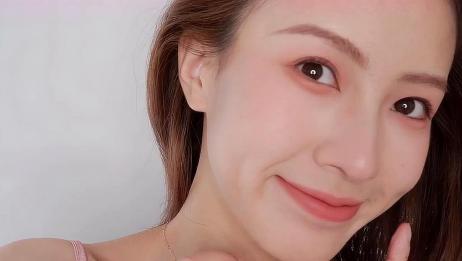夏日纯哑光粉色系妆容,简单又高级