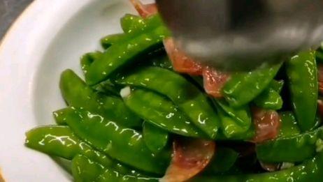 饭店炒蔬菜为什么这么亮呢?厨师长教你技巧,做出来非常有食欲感