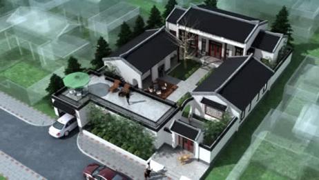 中式四合院设计,带车库带麻将房,非常适合文化人建