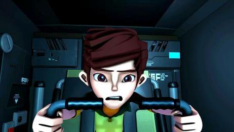 锋速战警:第一次操控机甲,小孩子不懂操作,差点发生事故