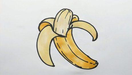 可爱的香蕉简笔画,快来一起画吧!