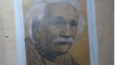 【素描】头像之爱因斯坦2