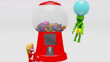 小艾莎 绿巨人吃了不同颜色的糖果,会有什么神奇的变化呢?