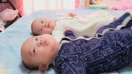 一个人带双胞胎是种什么感受,全程忙到蒙圈,累到脑子卡壳