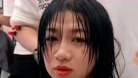 圆脸方脸的妹子发型这样剪,看着很减龄啊