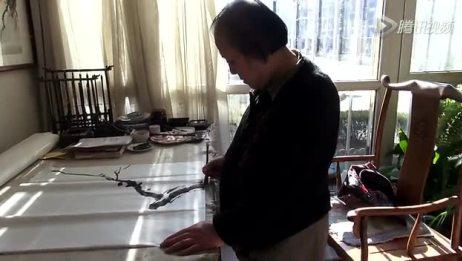 国画梅花斗方