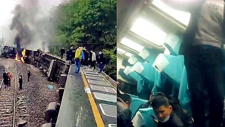 车厢内视频曝光!湖南郴州火车事故 乘客爬窗逃生拍下事故现场!