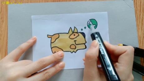 儿童简笔画上色视频大全,宝宝一看就会画教学视频,小小狗爱骨头