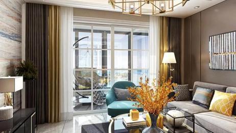 109平现代轻奢风,客厅背景墙简洁大气,餐厅设计让人心动不已!