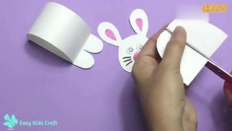 幼儿园手工小兔子的做法