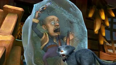 """当我把《熊出没》片段""""倒放""""后,被冻住的光头强竟自己化了!"""