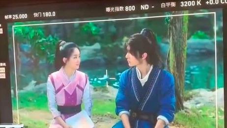 赵丽颖和王一博新戏,《有翡》对戏路透照曝光,网友看过后不接受