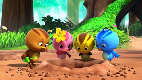 萌鸡小学堂:萌鸡找鼹鼠帮忙,它却躲了起来,难道是害怕小萌鸡
