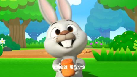 萌鸡小队:小白兔白又白,两只耳朵竖起来,跟着音乐和萌鸡一起跳