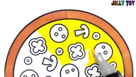 如何画比萨饼,简笔画