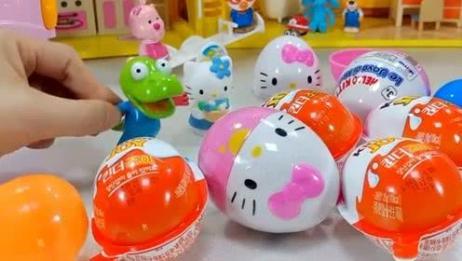 国外优秀儿童玩具:凯蒂猫奇趣蛋里面有可爱的凯蒂猫 真神奇呀