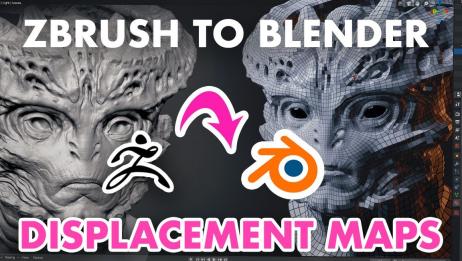 【Blender】【Zbrush】【中文字幕】ZBrush to Blender 2.8位