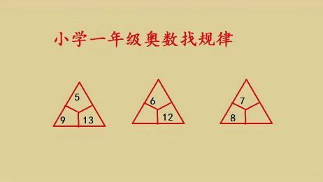 一年级奥数找规律,三个数字关系你能独自发现吗?