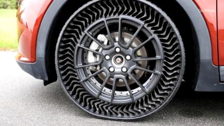 再也不怕钉子扎了!米其林推出免打气轮胎,几年后就能投入量产