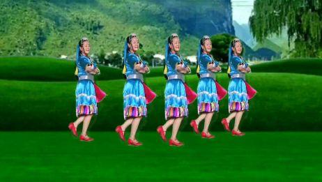 藏族舞蹈《我的九寨》歌声大气悠扬好听,舞蹈优美好看