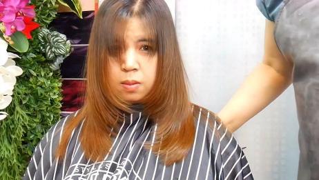 脸大女性发型怎么剪?发型师:向前边缘层次发型很显瘦,显脸小