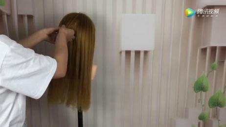 低马尾辫编发教程,不一样的扎发