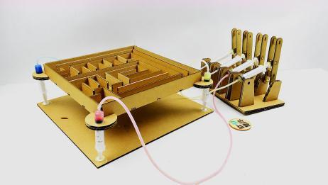 纸板玩出新花样!做个迷宫还是液压控制,玩起来不要太嗨