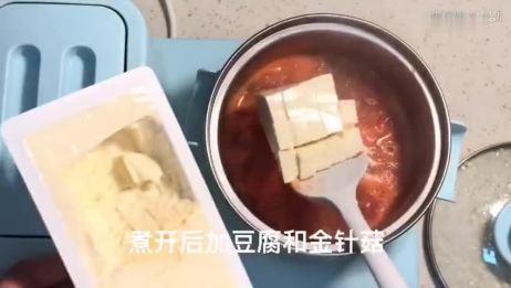 「减肥餐」简单好做的番茄豆腐刷脂汤,掉秤速度也能超乎你想象