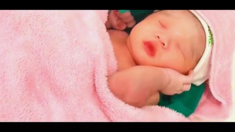 刚出生的小宝宝,还以为在妈妈肚子里,接下来的画面太可爱了!