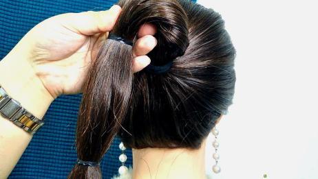 还不会扎丸子头?教你一招搞定,发型蓬松还好看!