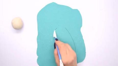 亲子互动橡皮泥做做艾莎公主蓝色星星裙子