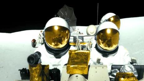 男主坐火箭前往月球,在月球遭遇海盗,差点被打劫