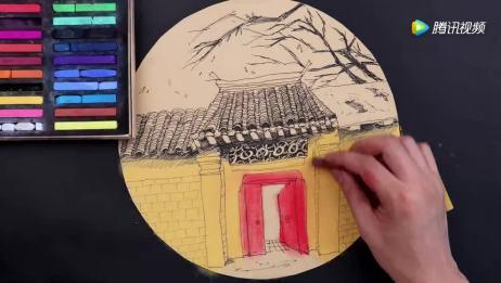 儿童重彩油画棒绘画